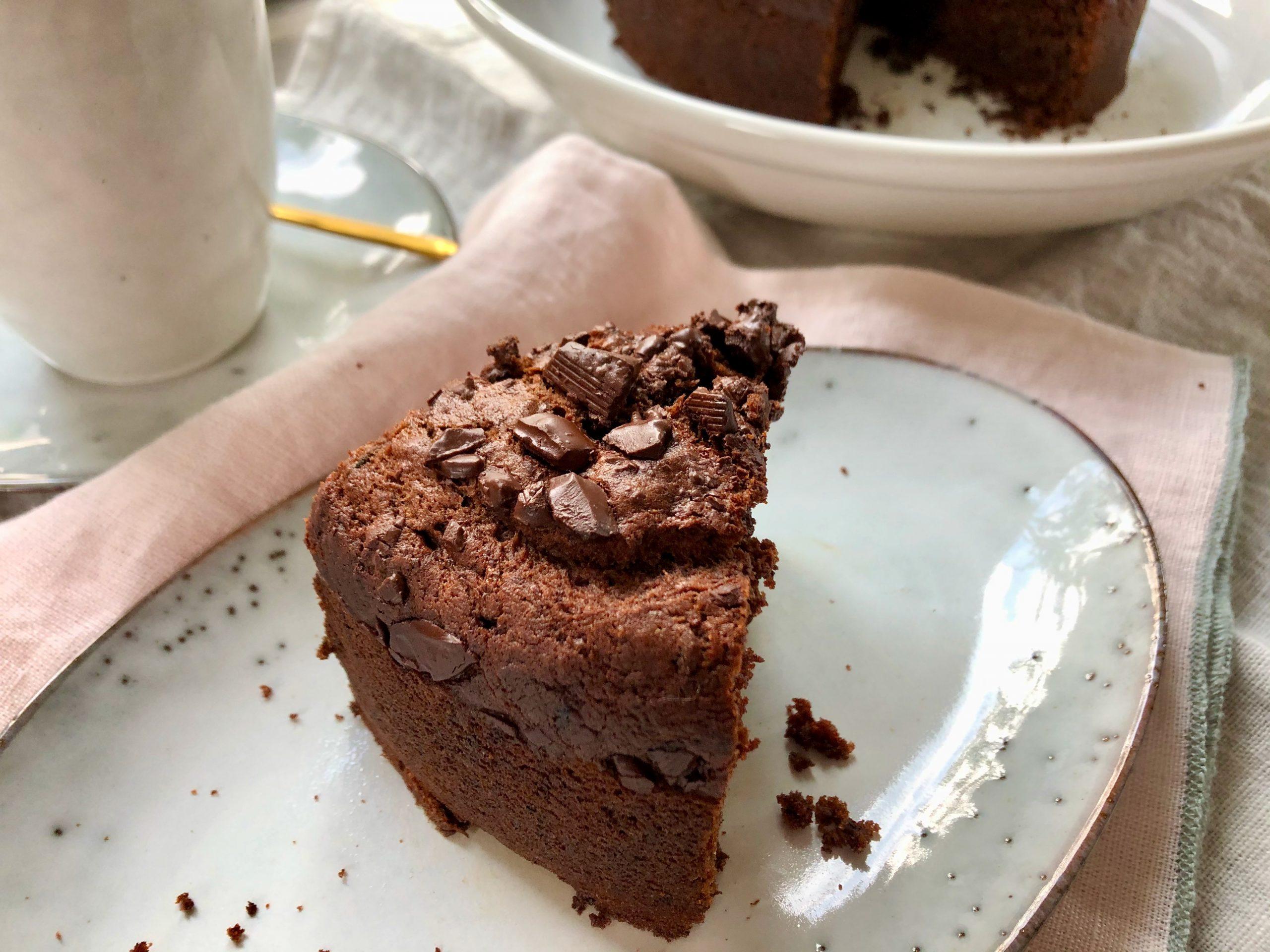 Veganer Schokoladenkuchen mit Zucchini